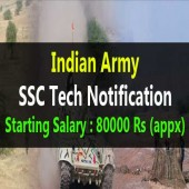 Indian Army Recruitment 2017 for 49th and 20th SSC Tech Course
